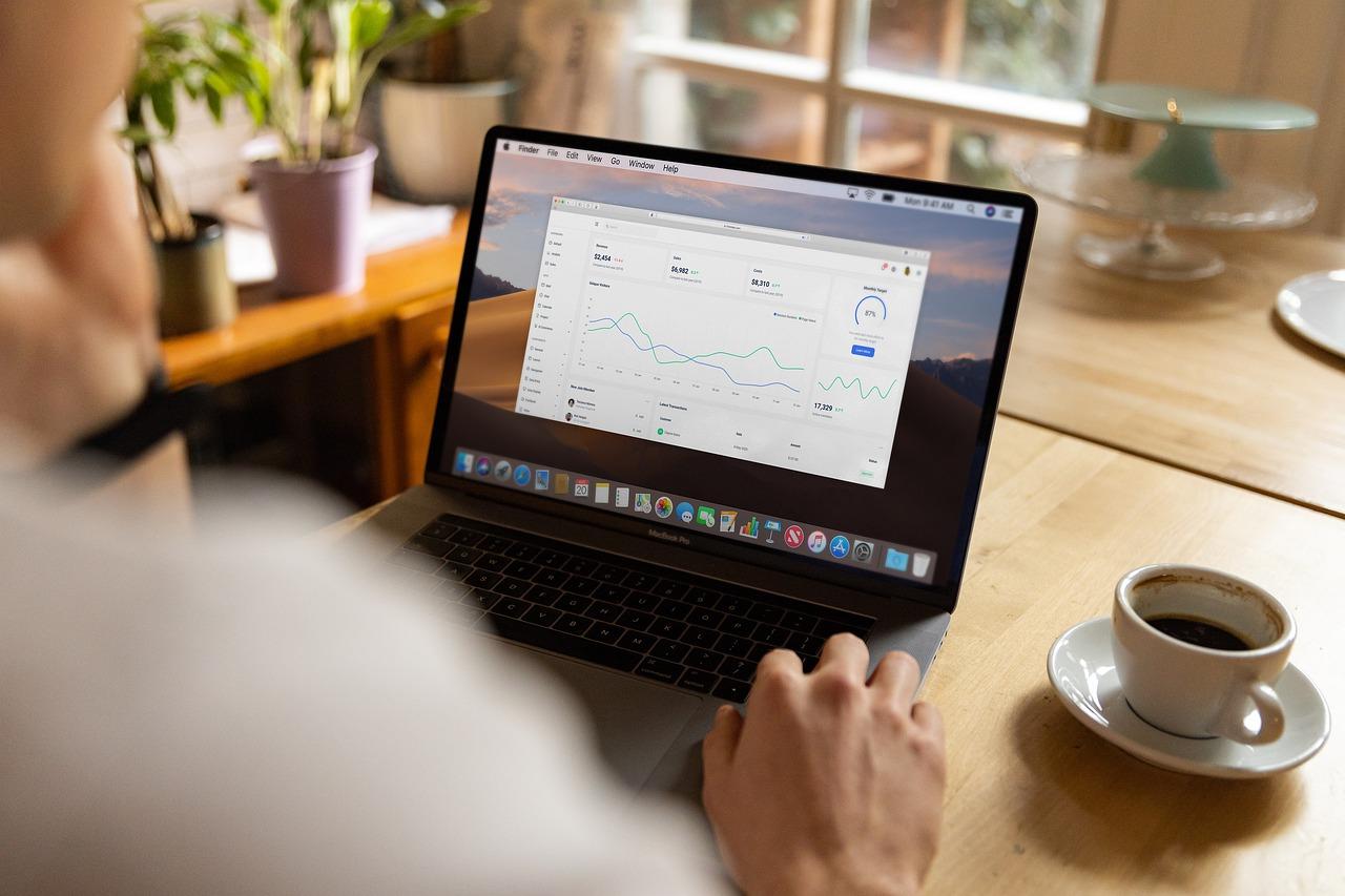 Laptop Work Coffee Chart Man  - Firmbee / Pixabay